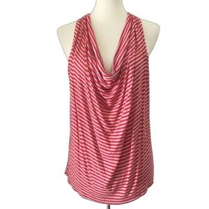 Cha Cha Vente Red and White Halter Top